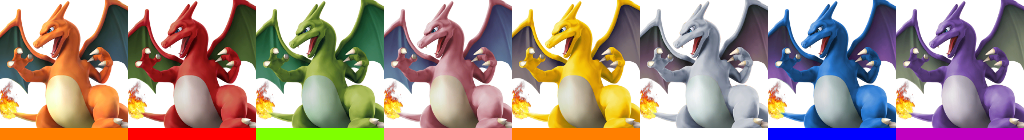 Charizard Palette (SSB4).png