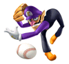 Brawl Sticker Waluigi (Mario Superstar Baseball).png