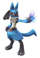 Brawl Sticker Lucario (Pokemon series).png