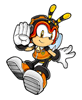 Brawl Sticker Charmy Bee (Knuckles' Chaotix).png