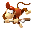 Brawl Sticker Diddy Kong (Mario Superstar Baseball).png