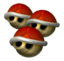 Brawl Sticker Triple Red Shells (Mario Kart DD!!).png
