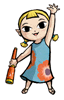 Brawl Sticker Aryll (Zelda Wind Waker).png