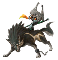 Brawl Sticker Midna & Wolf Link (Zelda Twilight Princess).png