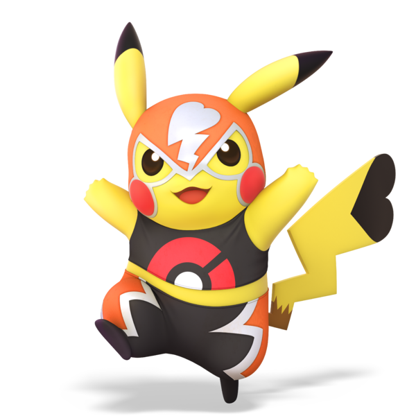 Pikachu Libre alternate costume