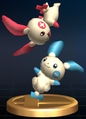 Plusle and Minun - Brawl Trophy.png