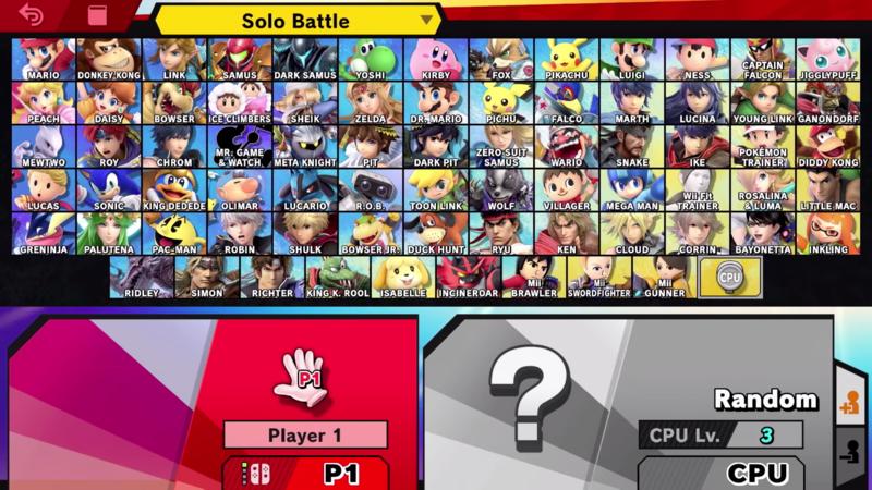 Super Smash Bros Characters Tv Tropes