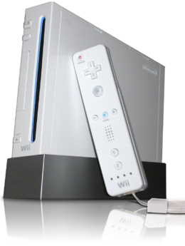 The Wii with Wii Remote