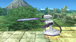 A R.O.B Blaster is an enemy in the Subspace Emissary.