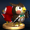 Blathers and Celeste - Brawl Trophy.png