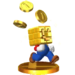 MarioWithGoldBlockTrophy3DS.png