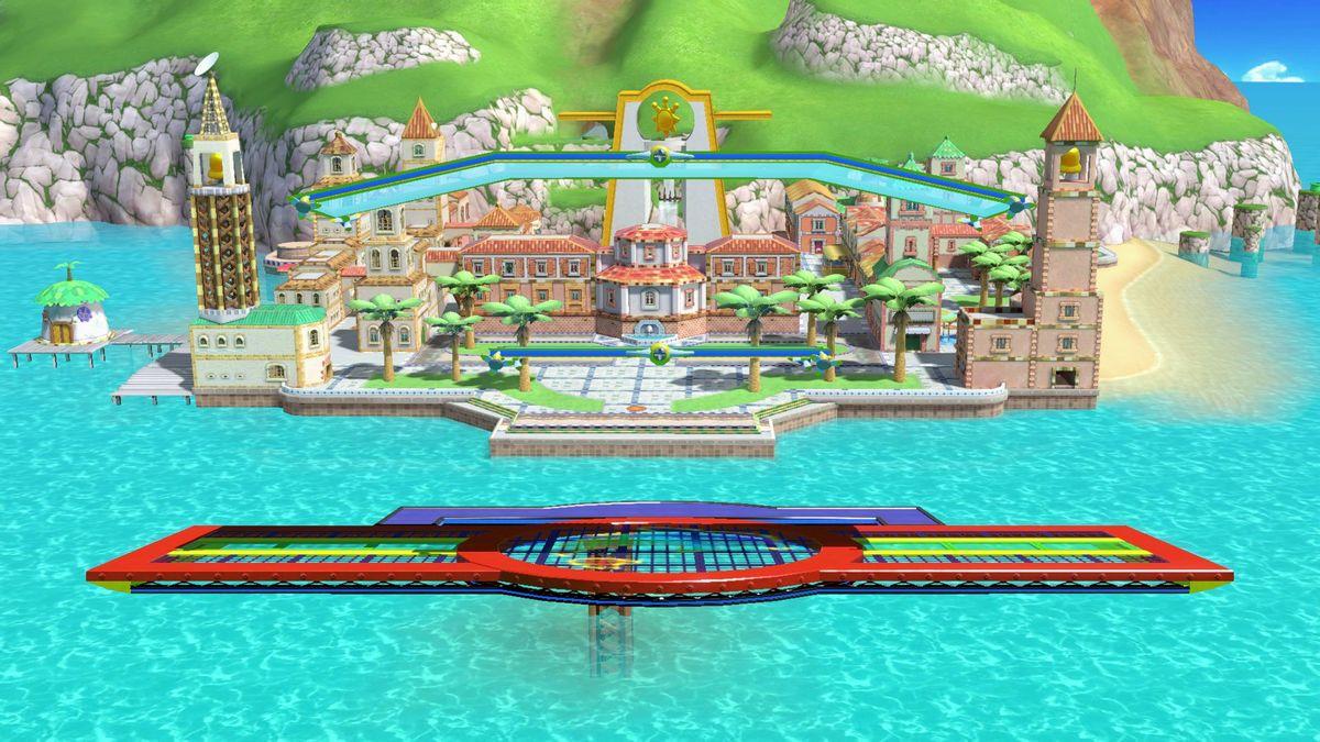 Delfino Plaza - SmashWiki, the Super Smash Bros  wiki