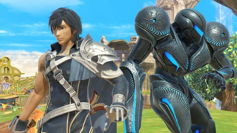File:Chrom and Dark Samus.jpg