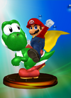 Mario and Yoshi Trophy Melee.png