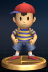 The Ness trophy in Brawl