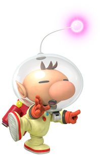Official artwork of Olimar from Hey! Pikmin.