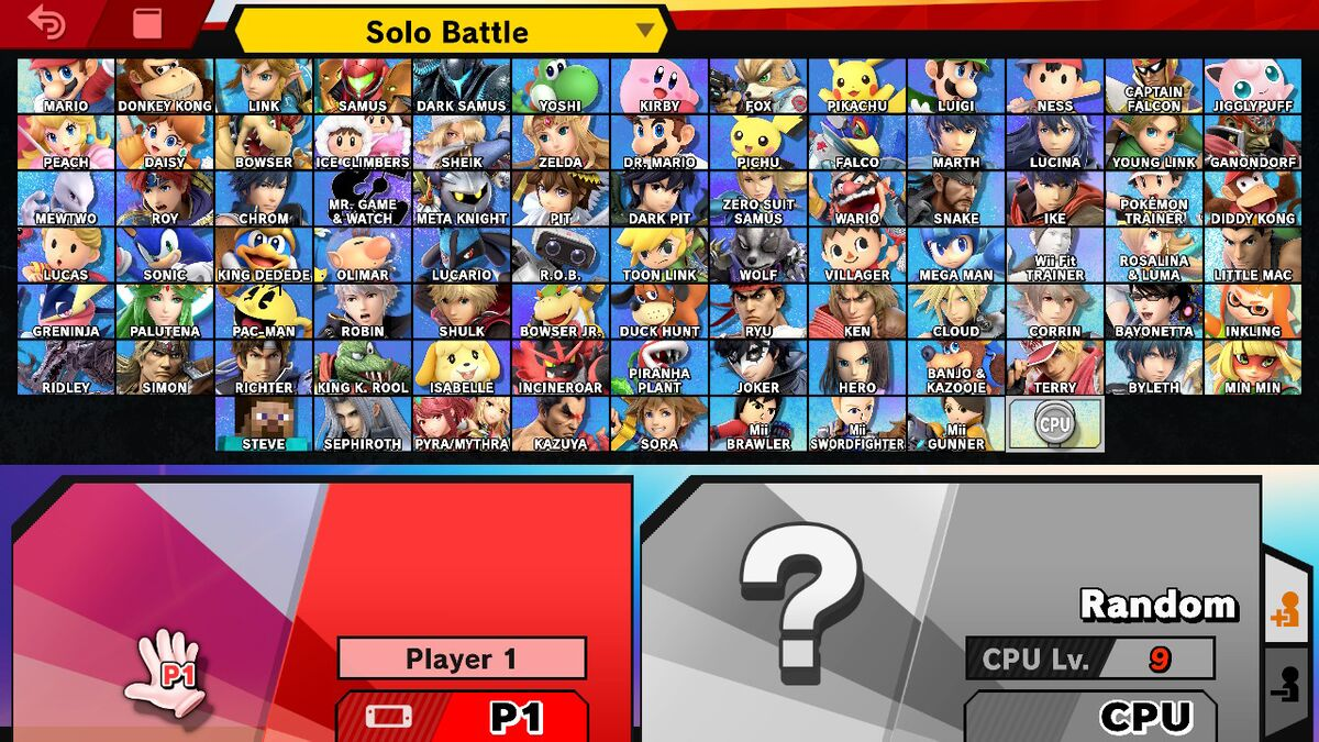 Character Selection Screen Smashwiki The Super Smash Bros