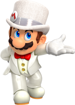 SMO Art - Wedding Mario.png