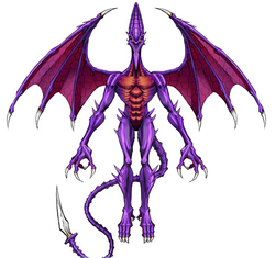 Concept art of Ridley's clone from Metroid: Other M, the basis of his appearance in Super Smash Bros. for Wii U.