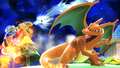 MarioFLUDD and Charizard.png